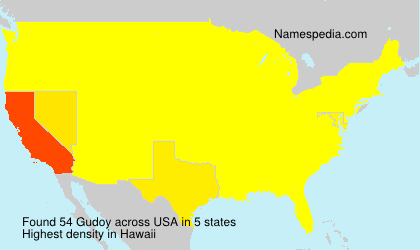 Surname Gudoy in USA