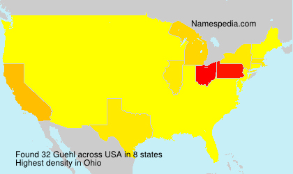 Surname Guehl in USA