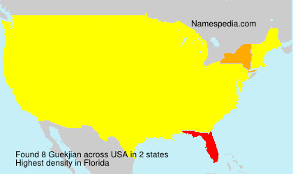 Surname Guekjian in USA