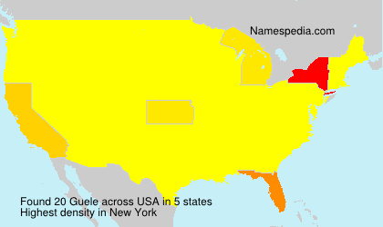 Surname Guele in USA