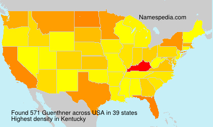 Surname Guenthner in USA