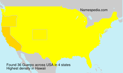 Surname Guerpo in USA