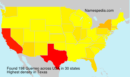 Surname Guerreo in USA