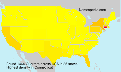 Surname Guerrera in USA