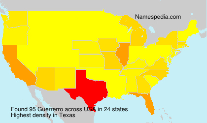 Surname Guerrerro in USA