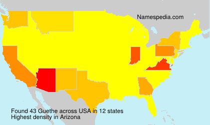 Surname Guethe in USA