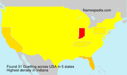 Surname Guetling in USA
