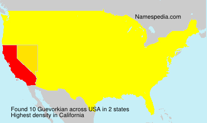 Surname Guevorkian in USA