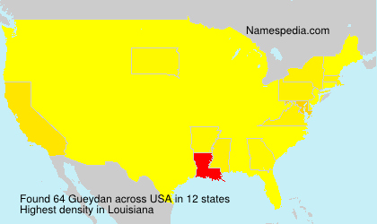 Surname Gueydan in USA