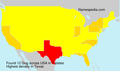 Surname Gug in USA