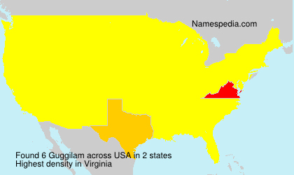 Surname Guggilam in USA