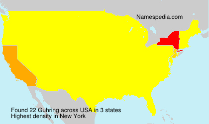 Surname Guhring in USA