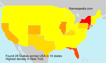 Surname Guibas in USA