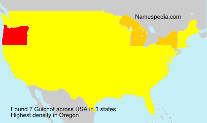 Surname Guichot in USA