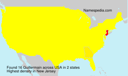 Surname Guillermain in USA