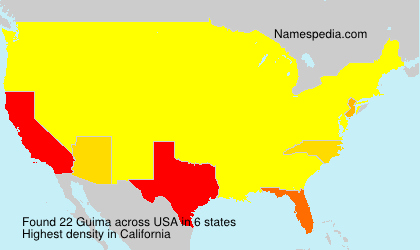 Surname Guima in USA