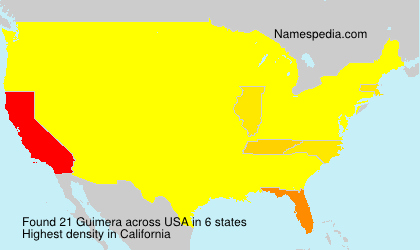 Surname Guimera in USA