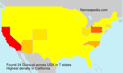 Surname Guiraud in USA