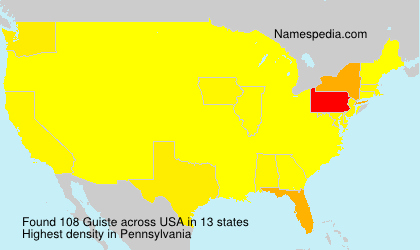 Surname Guiste in USA