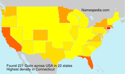 Surname Guite in USA