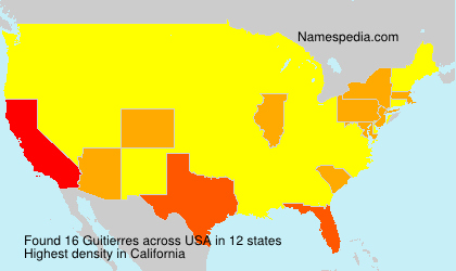 Surname Guitierres in USA