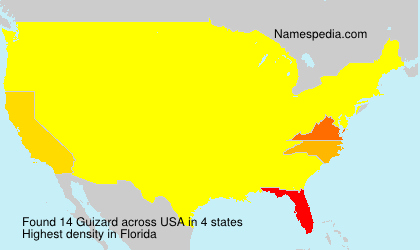 Surname Guizard in USA