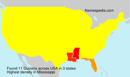 Surname Guizerix in USA