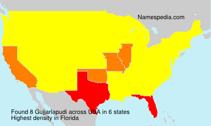 Surname Gujjarlapudi in USA