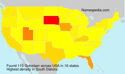Surname Gukeisen in USA