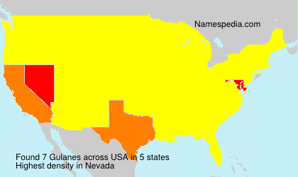 Surname Gulanes in USA