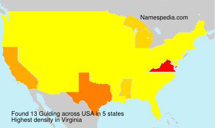 Surname Gulding in USA