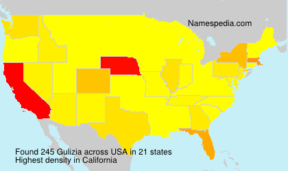 Surname Gulizia in USA