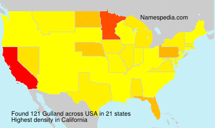 Surname Gulland in USA