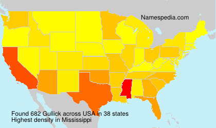Surname Gullick in USA