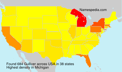 Surname Gulliver in USA