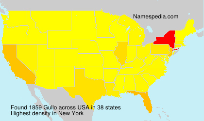 Surname Gullo in USA