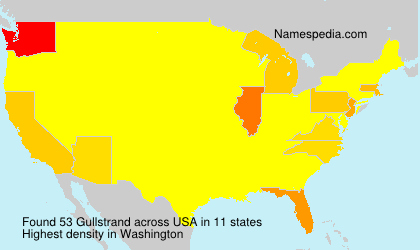 Surname Gullstrand in USA