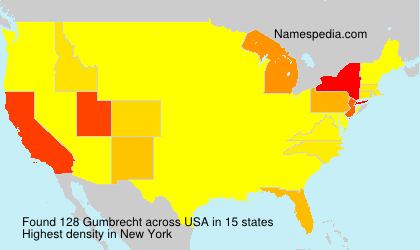 Surname Gumbrecht in USA