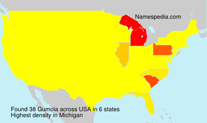 Surname Gumola in USA