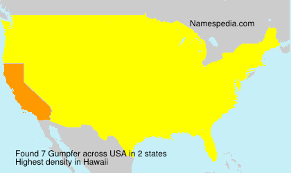 Surname Gumpfer in USA