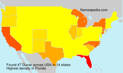 Surname Gunar in USA