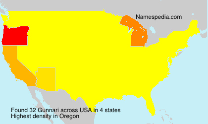 Surname Gunnari in USA