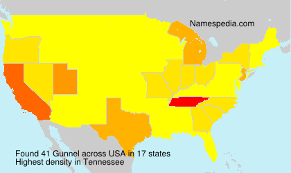 Surname Gunnel in USA