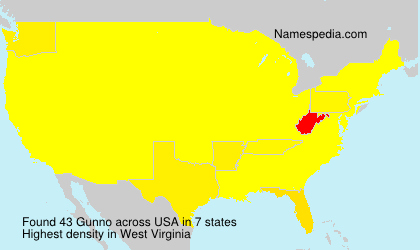 Surname Gunno in USA