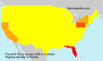 Surname Guny in USA