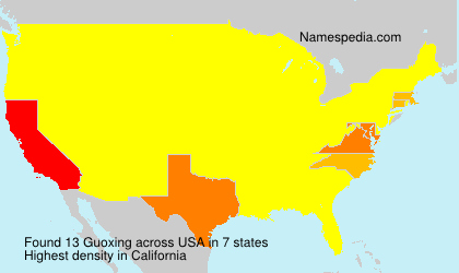Surname Guoxing in USA