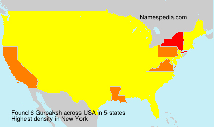 Surname Gurbaksh in USA