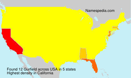 Surname Gurfield in USA