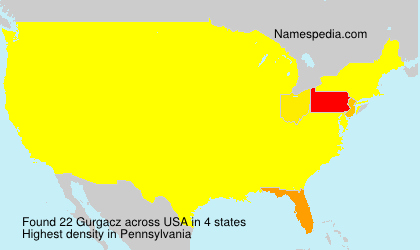 Surname Gurgacz in USA