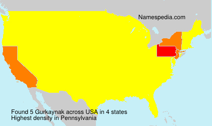 Surname Gurkaynak in USA